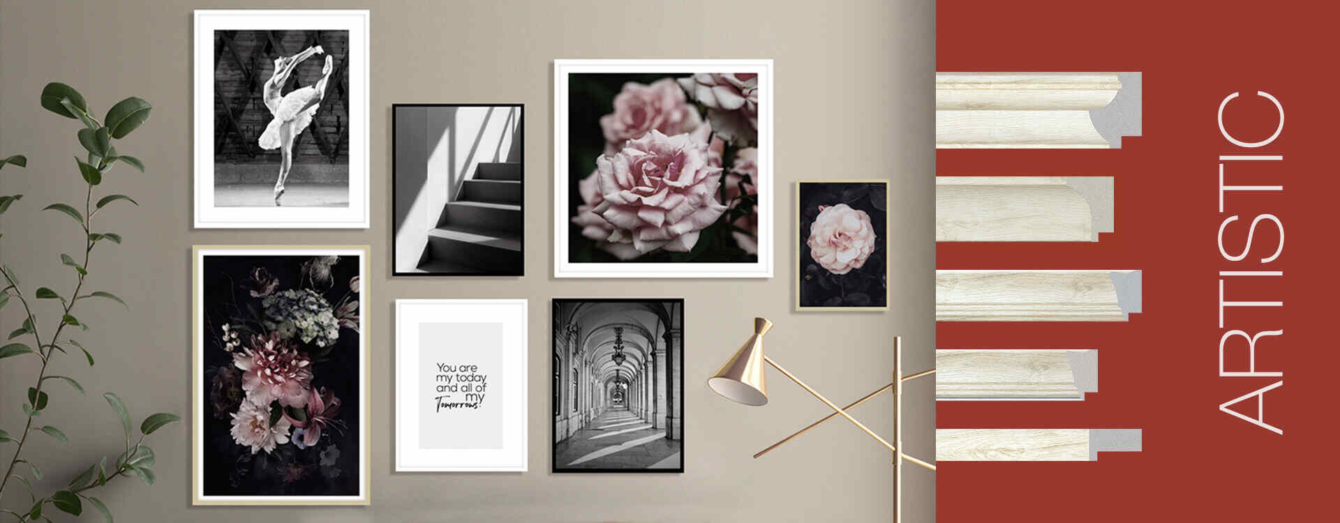 Artistic picture frame moulding ideas for wall
